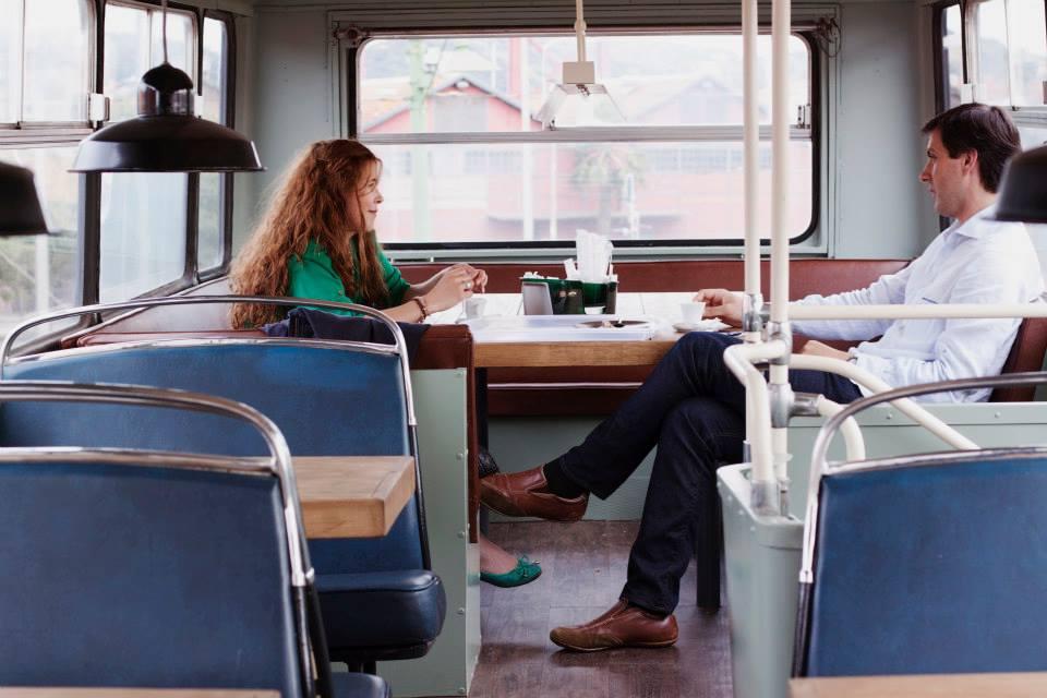Buzz Lisboeta, a restaurant inside a bus at Village Underground Lisboa